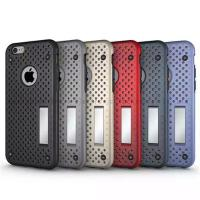 Wholesale Stand phone case,for iphone 6/plus 6/6s,mesh opening design,support holder,PC+TPU material,colors from china suppliers