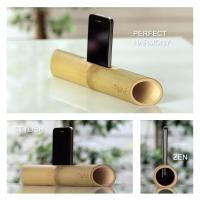 Wholesale Environmentally green bamboo surround sound speaker, bamboo loudspeaker for iPhone from china suppliers
