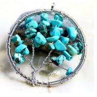 Wholesale Blue Gemstone Beaded Jewelry Tree Of Life Birthstone Pendant For Jewellery Beading Kit from china suppliers