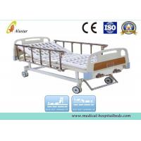 Quality Double Crank Medical Hospital Furniture Nursing Bed With Control Wheels (ALS-M203) for sale
