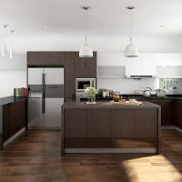 Wholesale Interior Assembled Wood Veneer Kitchen Cabinets Particle Board Carcass from china suppliers