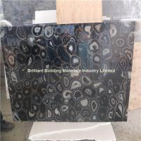 Wholesale Semiprecious Stone Black Agate Slab from china suppliers