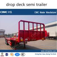 With Drop Axle Semi : Cimc axle drop deck semi trailer of item