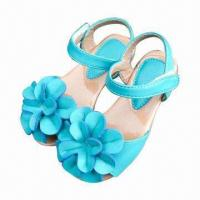 Wholesale Girls' Sandals with soft leather upper and durable outsole from china suppliers