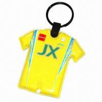 China PVC Keychain with LED Lamp, LED PVC Keyring, Customized Sizes, Shapes and Designs are Welcome on sale
