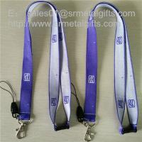 Wholesale Custom polyester woven lanyard with jacquard logo, promotional brand woven ribbons, from china suppliers