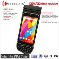 Wholesale 5.0 Inch Android Bluetooth Industrial PDA Thermal Printer Barcode Scanner 58mm Portable from china suppliers