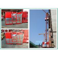 Wholesale Construction Passenger Material Hoist With Mast Climbing Platform Adjustable Speed from china suppliers