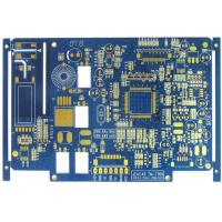 Wholesale Blue 4 Layer FR4 Flash Gold Bare Rigid PCB Board Fabrication High Precision from china suppliers