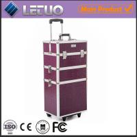 Wholesale purple professional makeup trolley case from china suppliers