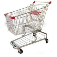 Wholesale Heavy Duty Supermarket Carts Wire Unfolding Shopping Baskets On Wheels from china suppliers