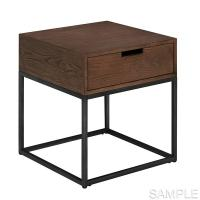 Buy cheap Soft Wire Brushed Distressing Solid Wood End Tables With Bolt Head Connections from wholesalers