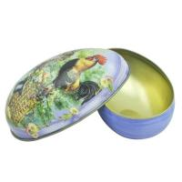 Christmas egg shape candy metal tin wholesale/easter egg candy tin box