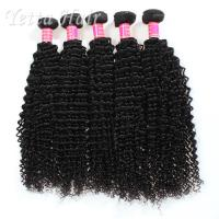 Wholesale Long Lasting Grade 6A Brazilian Hair Kinky Curly Weave With Tangle Free from china suppliers