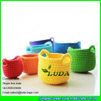 Wholesale LDMX-002 handmade crochet beach bag home decoration small straw basket from china suppliers