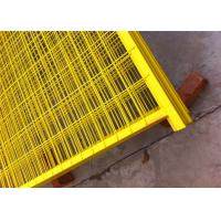 """Wholesale Canada standard Construction Temporar Fencing Panels 6'x9.6' mesh 2""""x4""""x3.2mm powder coated yellow 1.2""""/30mm tubing from china suppliers"""