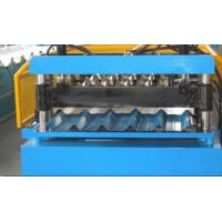 Wholesale Galvanized Roofing Corrugated Sheet Roll Forming Machine With Manual Pre - Cutter from china suppliers