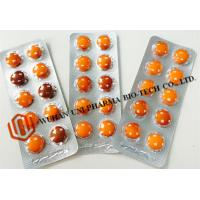Quality Solid Form Vitamin A And E Tablets , Multivitamin Chewable Tablets Orange Colored Pills for sale