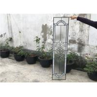 Wholesale Black Patina Door Glass Panes , Heat / Noise Resistance Decorative Glass Panes from china suppliers