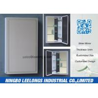 Wholesale Framed Hanging Silver Bathroom Mirror , Large Silver Framed Bathroom Mirrors from china suppliers
