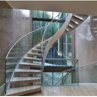 Buy cheap Arc Modern Wood Steel Round Staircase from wholesalers