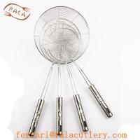 Quality China Wholesale Hanging 201 Stainless Steel Food Strainer for sale