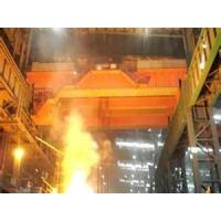 Wholesale heat insulation steel work 225ton, 450t overhead casting ladle crane for EAF bay from china suppliers