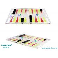Wholesale Lucite Transparent Backgammon Game Set Diverse Colorful Patterns Customizable from china suppliers