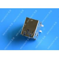 Wholesale Double Layers Female USB Micro Connector Type A Right Angle 8 Pin DIP Jack from china suppliers