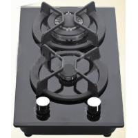 Wholesale Black Double Burner Gas Hob Glass Top , Kitchen Two Burner Gas Cooker from china suppliers