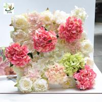 Wholesale UVG wonderful silk rose wall weddings with fake penoy flowers for wedding Décor CHR1143 from china suppliers