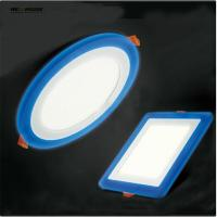 Wholesale 3 Model Round Square blue+white double color Led Panel Light 5w/9w/16w/24W AC85-265V Recessed LED Ceiling downlight from china suppliers