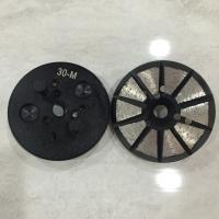 Buy cheap 10 Triangles Segments 4 Holes Expoxy Floor Grinding Tools Diamond Metal Concrete polishing pads for concrete floor from wholesalers