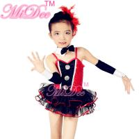 Wholesale Children'S Dance Clothes Black Red Sequin Tutu Skirt  For Solo Performance from china suppliers