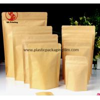 Wholesale Food Grade Stand Up Kraft Paper Pouches with Zipper and Easy Tearing Eco from china suppliers