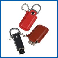Wholesale Red / Black Keychain Cell Phone Accessory Brown Leather 32GB USB Flash Drive from china suppliers