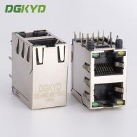 Wholesale Dual deck 2 ports RJ45 Receptacle connector ethernet modular Jacks with Y/G LED from china suppliers