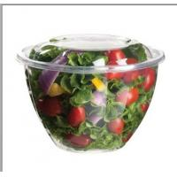 Wholesale 16oz 24oz 32oz 48oz PET Disposable Salad Bowls , Eco Friendly Round bowl from china suppliers