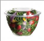 Wholesale 16oz 24oz 32oz 48oz PET Disposable Salad Bowls , Eco Friendly Round bowl from china suppliers