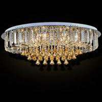 Wholesale Custom Round Luxury Crystal Ceiling Light With Glass Pearl Drop for Home / Living room from china suppliers