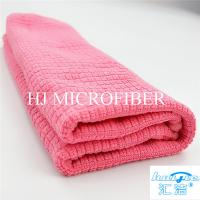 "Wholesale Microfiber Cleaning Cloth Towel Weft Knitted Cloth For Kitchen Red Color 16"" Washing Tools from china suppliers"