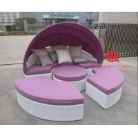 Quality Leisure garden furniture round patio fabric sunbed sofa bed for sale