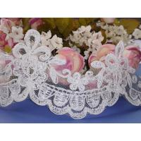 China Embroidered bridal lace trim wholesale on sale