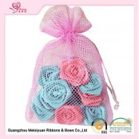 Wholesale Pink Mesh Custom Drawstring Bags With Rope 20 * 35cm size Eco - friendly from china suppliers
