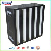 Wholesale Cleanroom Solutions Box V Type High Efficiency Air Filter H13 H14 from china suppliers