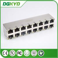 Quality KRJ -5921S2X8NL Stack RJ45 Female Jack 2X8 Port No LEDs 0811-2X8R-19-F RoHS for sale