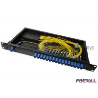 Wholesale 1x16 Rack Mounted Optical Fiber Splitter 1u 19 Inch Pre-Loaded With Sc Adapter from china suppliers