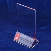 Wholesale A3 / A4 Transparent Tabletop Acrylic Menu Holder Triangle for Cafe Bar from china suppliers