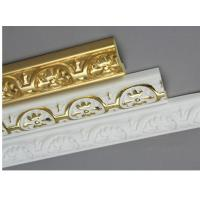 Wholesale Golden Decorative Polyurethane Crown Moulding Belt Line Hand Painted from china suppliers