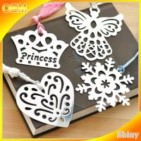 Wholesale Etched Steel Metal Christmas Ornaments Personalized , Custom Metal Bookmarks from china suppliers